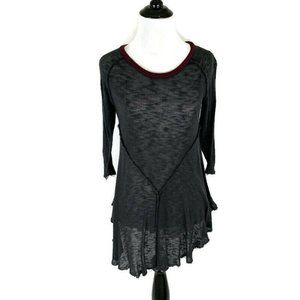 Intimately Free People Fitted Top Raw Hem Burnout